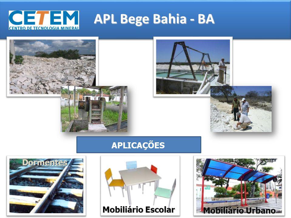 APL Bege Bahia - BA APLICAÇÕES Dormentes Mobiliário Escolar Mobiliário Urbano