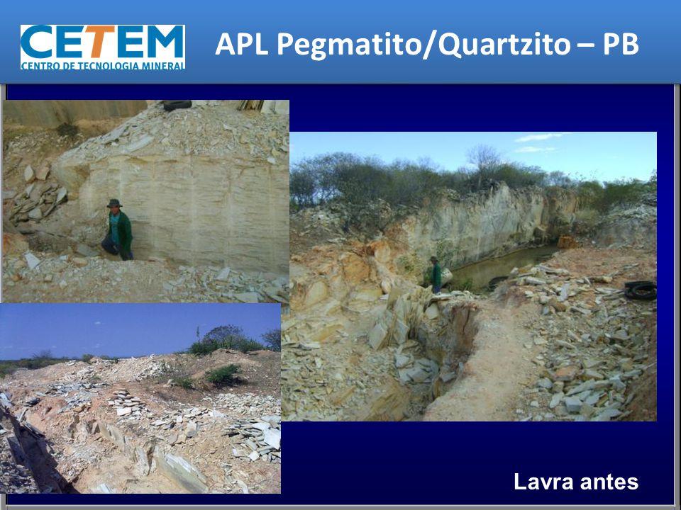 APL Pegmatito/Quartzito – PB Lavra antes