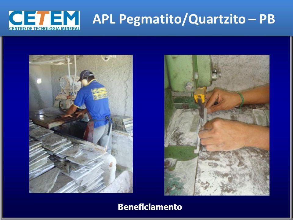 Beneficiamento APL Pegmatito/Quartzito – PB