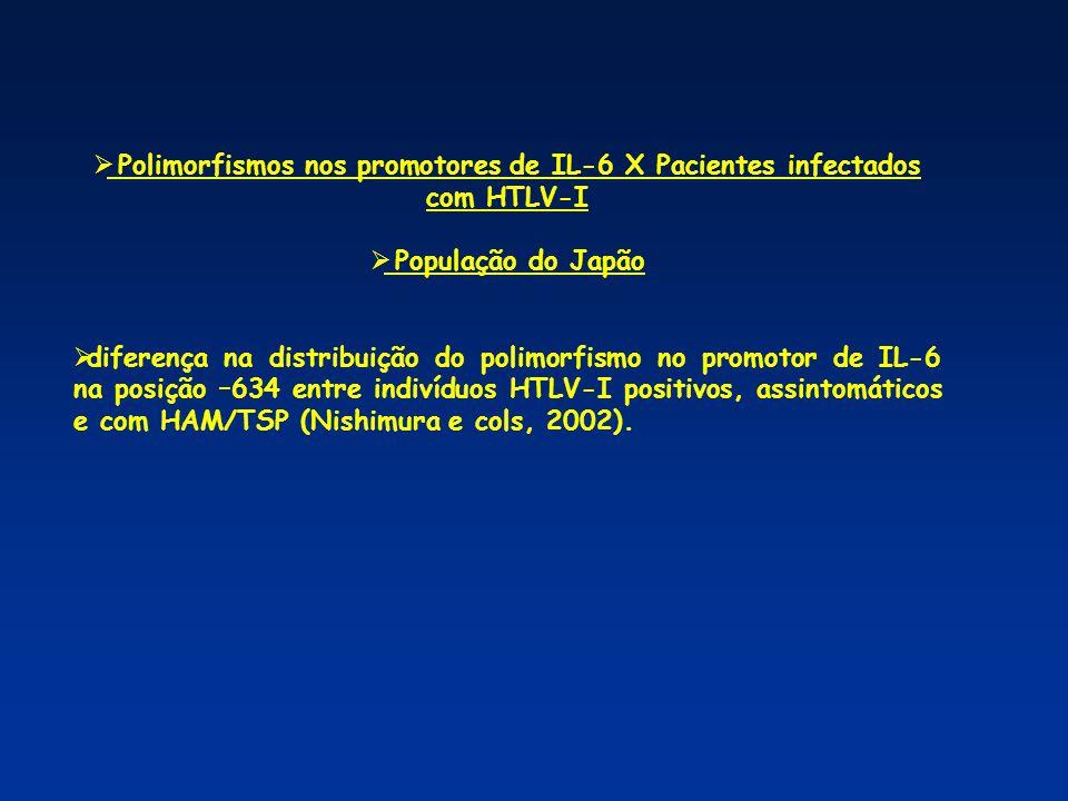 Pergunta: Existe associação desses Polimorfismos com a manifestação de TSP/HAM em indivíduos infectados com HTLV-1 de Salvador, Bahia, Brazil.