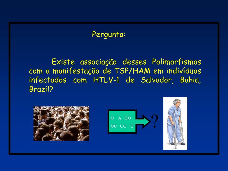 Resultado 1: 3 populacões brasileiras 293 amostras coletadas entre 1997 e 2001: 100 da população geral de Salvador (Dourado et al.