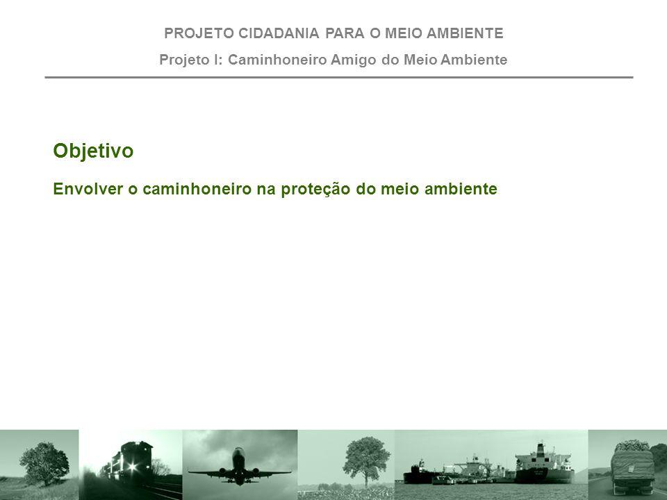 Projeto I: Caminhoneiro Amigo do Meio ambiente. PROJETO CIDADANIA PARA O MEIO AMBIENTE