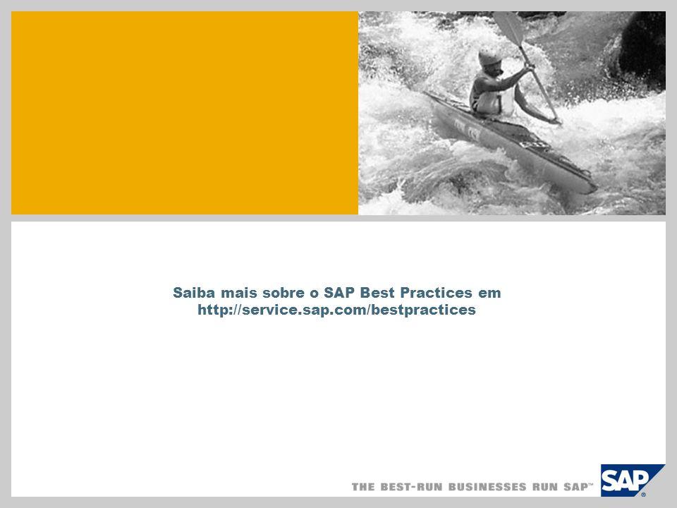 Saiba mais sobre o SAP Best Practices em http://service.sap.com/bestpractices