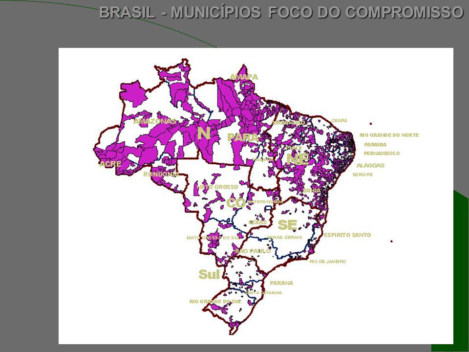 BRASIL - MUNICÍPIOS FOCO DO COMPROMISSO