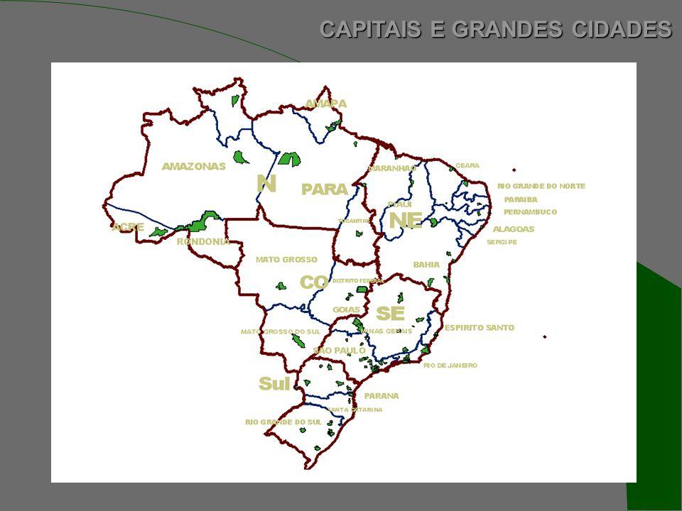 CAPITAIS E GRANDES CIDADES