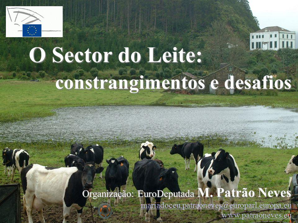 O Sector do Leite: constrangimentos e desafios Organização: EuroDeputada M. Patrão Neves mariadoceu.patraoneves@europarl.europa.eu www.patraoneves.eu