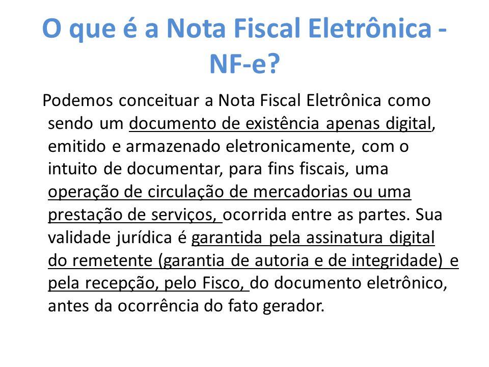 O que é a Nota Fiscal Eletrônica - NF-e.