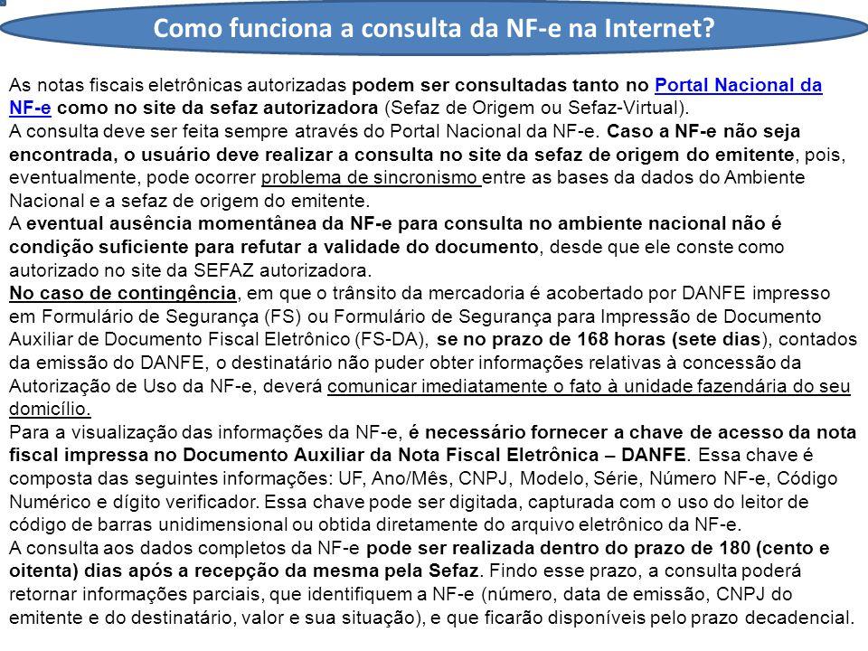 Como funciona a consulta da NF-e na Internet.
