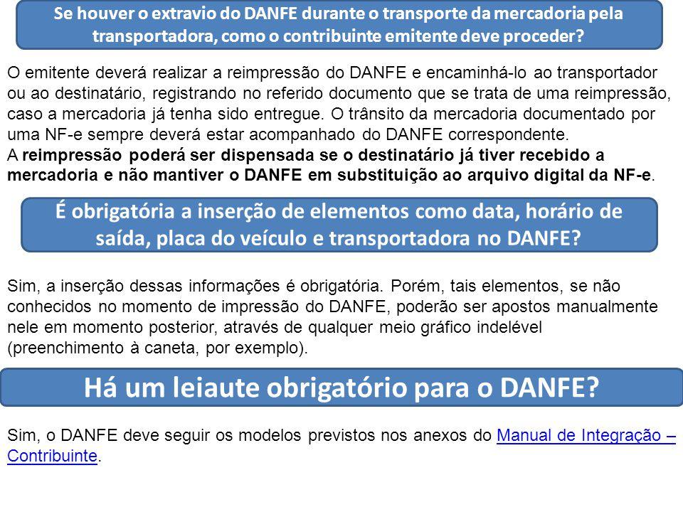 Se houver o extravio do DANFE durante o transporte da mercadoria pela transportadora, como o contribuinte emitente deve proceder.