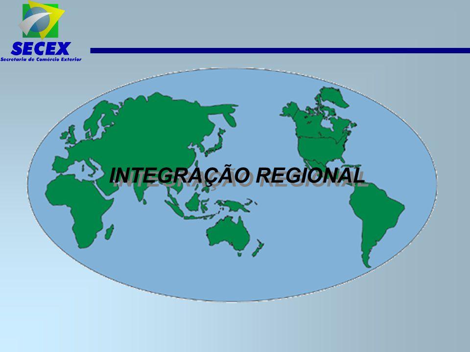 Acesso do Brasil aos mercados da América ALADI Segundo Hugo Saguier, novo Secretário-Geral da ALADI, a análise das estatísticas de comércio exterior dos países-membros da ALADI indica que: –18% de seu comércio total está voltado para a região latino-americana.