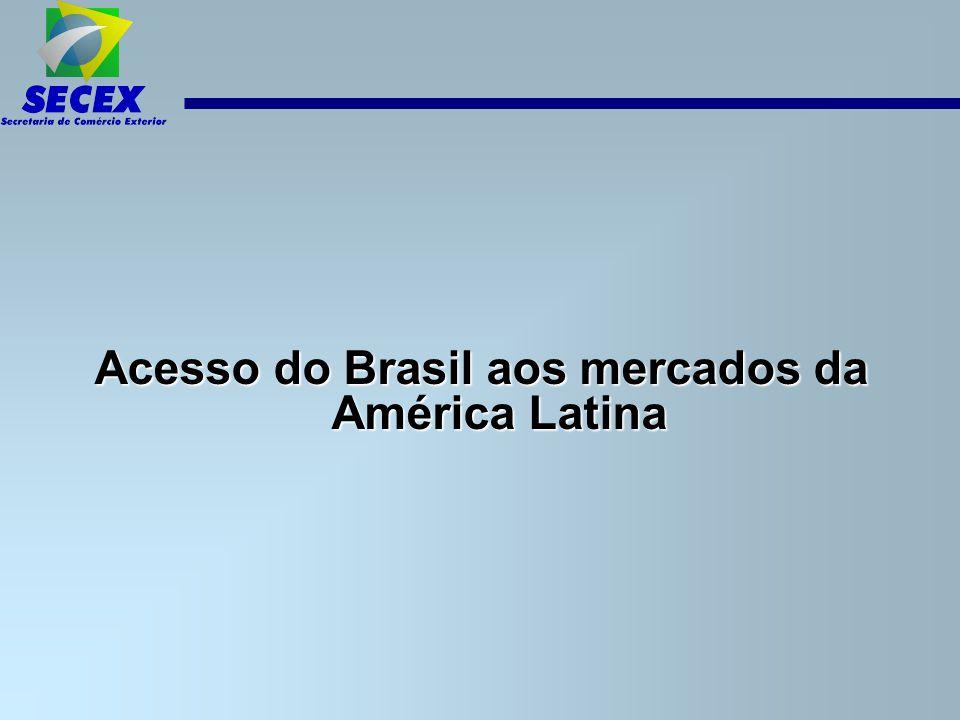 Acesso do Brasil aos mercados da América Latina