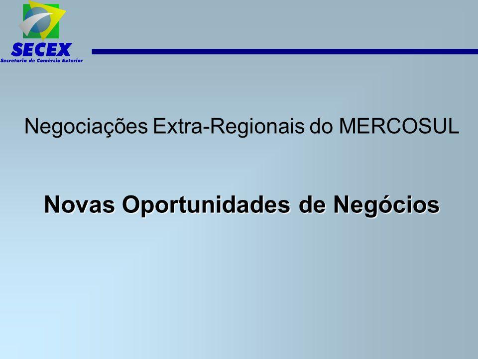 Negociações Extra-Regionais do MERCOSUL Novas Oportunidades de Negócios