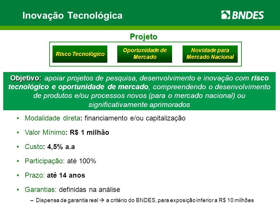 PSI - Inovação Condições Especiais das linhas e programas de inovação, válidas para operações contratadas até 30/06/2010.