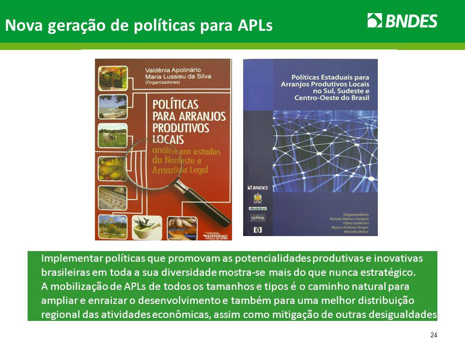 24 Implementar políticas que promovam as potencialidades produtivas e inovativas brasileiras em toda a sua diversidade mostra-se mais do que nunca estratégico.