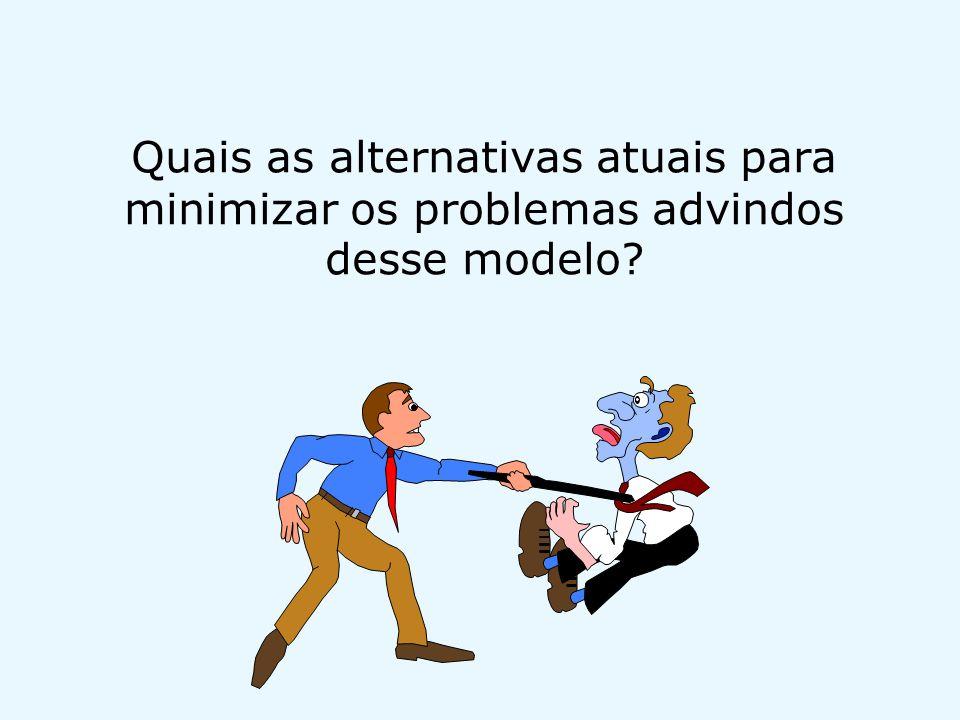 Quais as alternativas atuais para minimizar os problemas advindos desse modelo?
