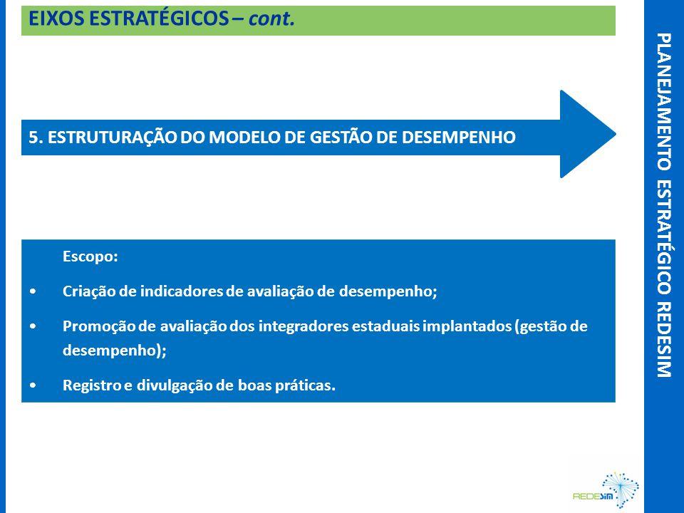 EIXOS ESTRATÉGICOS – cont. 5.
