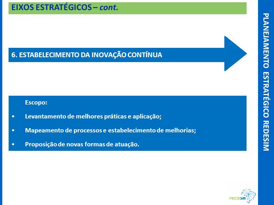 EIXOS ESTRATÉGICOS – cont. 6.