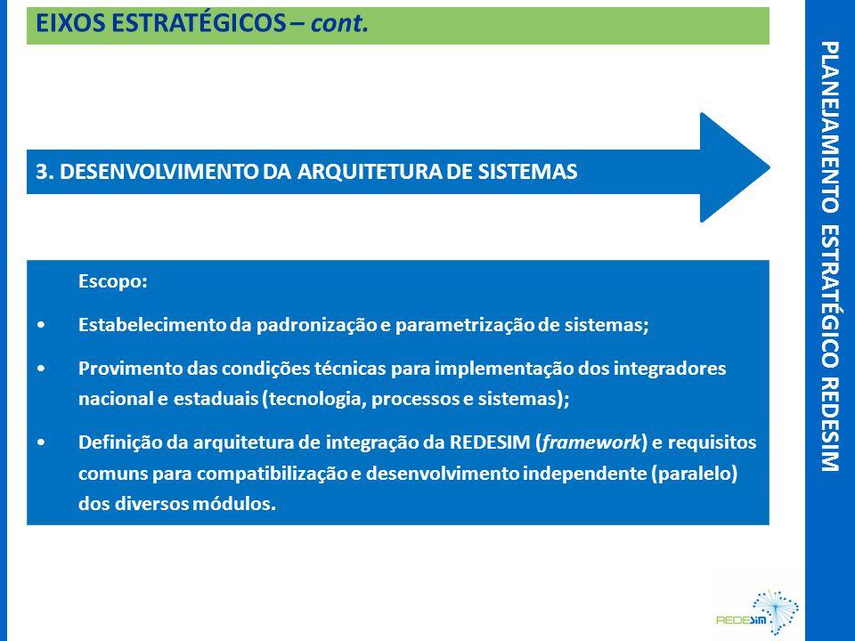EIXOS ESTRATÉGICOS – cont. 3.