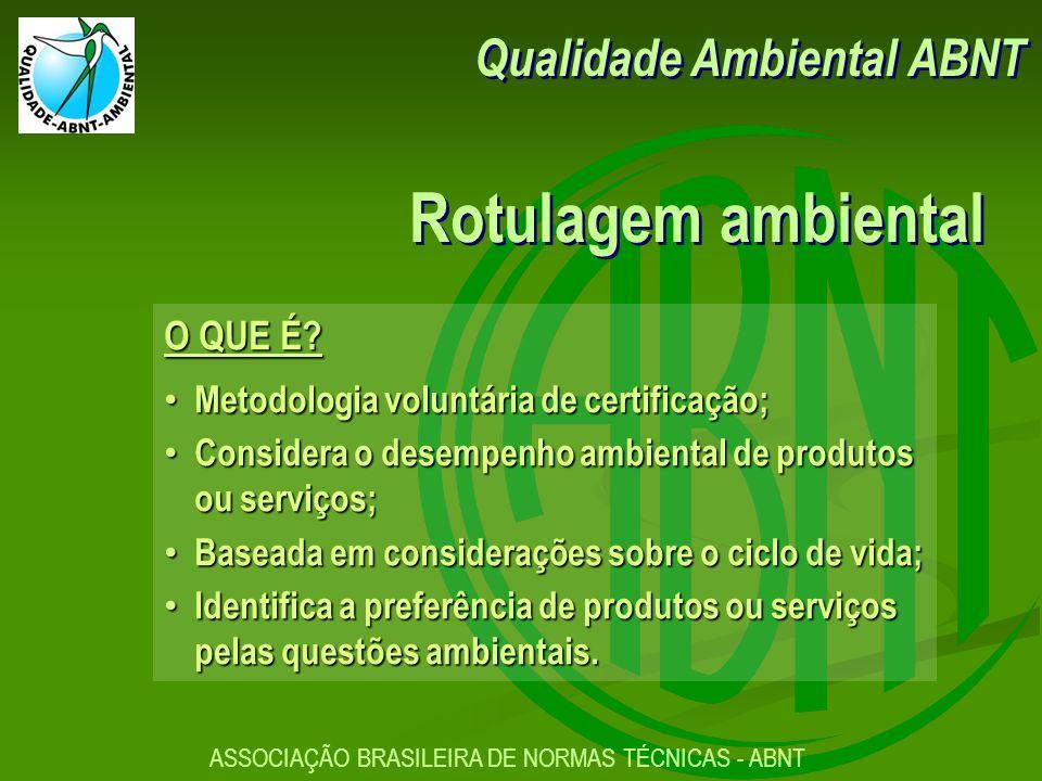 ASSOCIAÇÃO BRASILEIRA DE NORMAS TÉCNICAS - ABNT O QUE É.