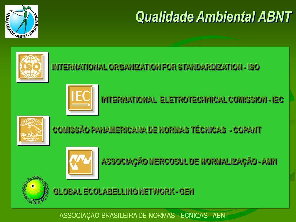 Qualidade Ambiental ABNT ASSOCIAÇÃO BRASILEIRA DE NORMAS TÉCNICAS - ABNT