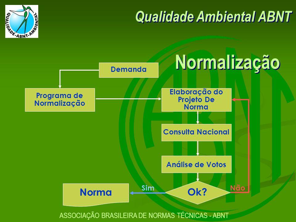 Qualidade Ambiental ABNT ASSOCIAÇÃO BRASILEIRA DE NORMAS TÉCNICAS - ABNT Consulta Nacional Elaboração do Projeto De Norma Análise de Votos Ok.