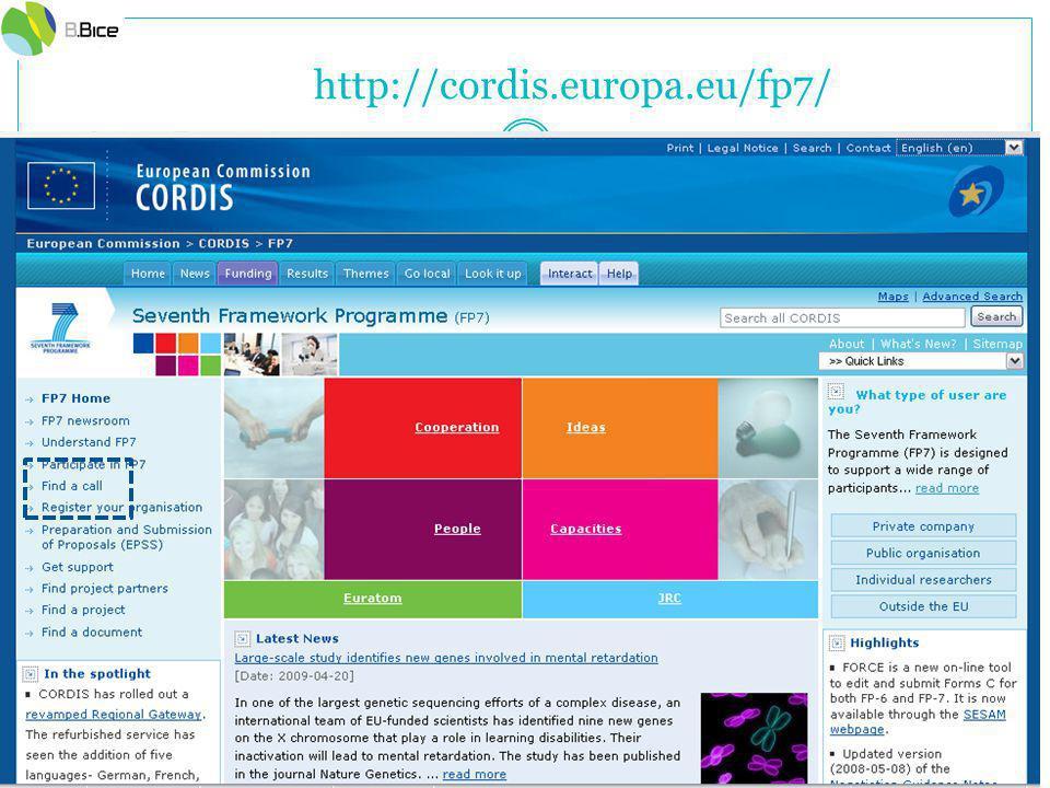 http://cordis.europa.eu/fp7/