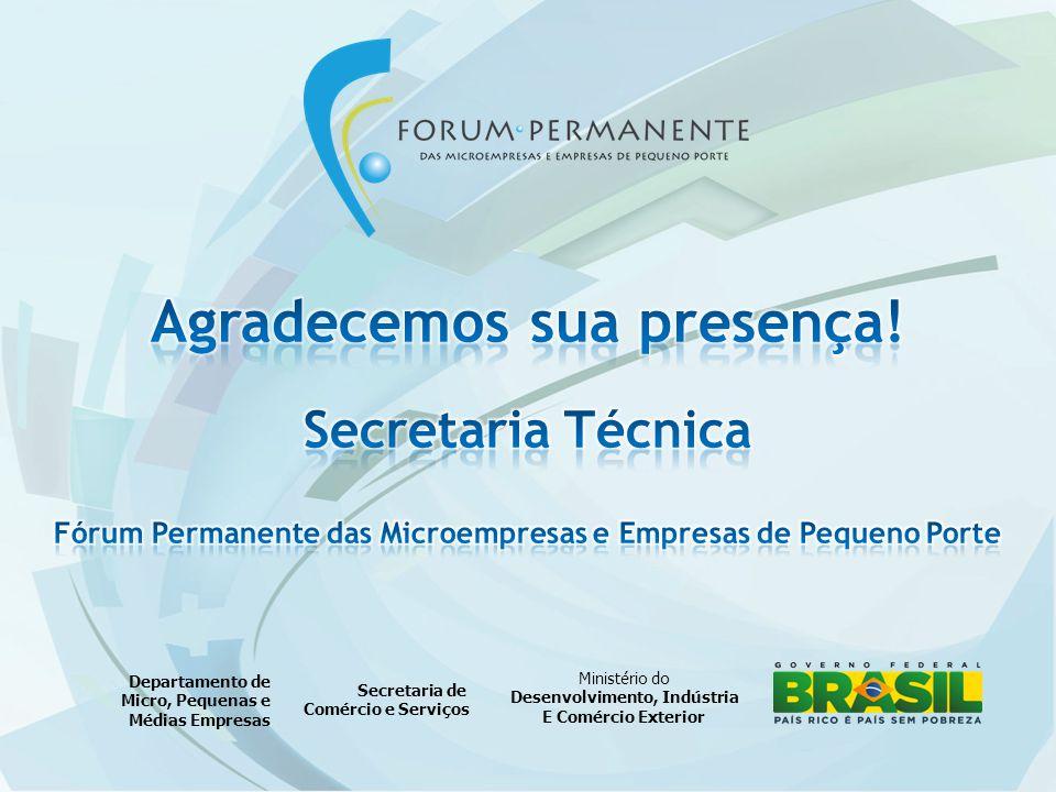 Ministério do Desenvolvimento, Indústria E Comércio Exterior Secretaria de Comércio e Serviços Departamento de Micro, Pequenas e Médias Empresas
