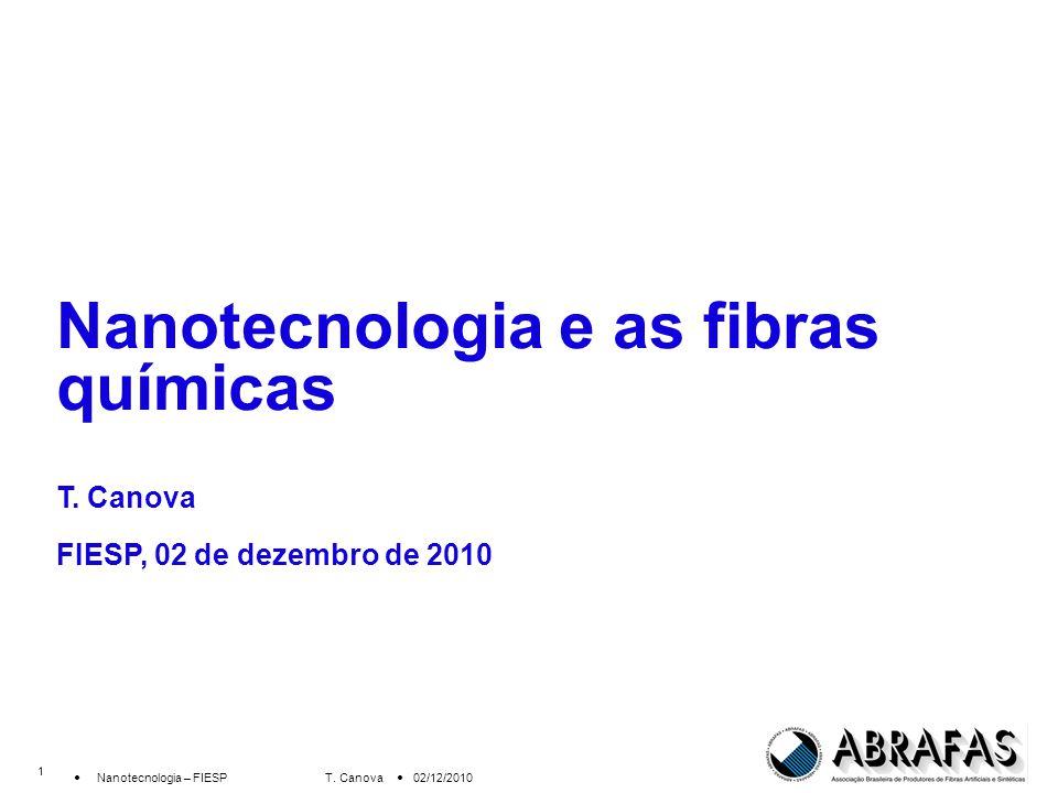 1 Nanotecnologia – FIESP T.Canova 02/12/2010 Nanotecnologia e as fibras químicas T.