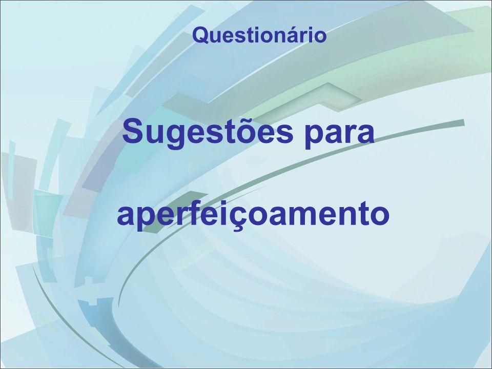 Questionário Sugestões para aperfeiçoamento