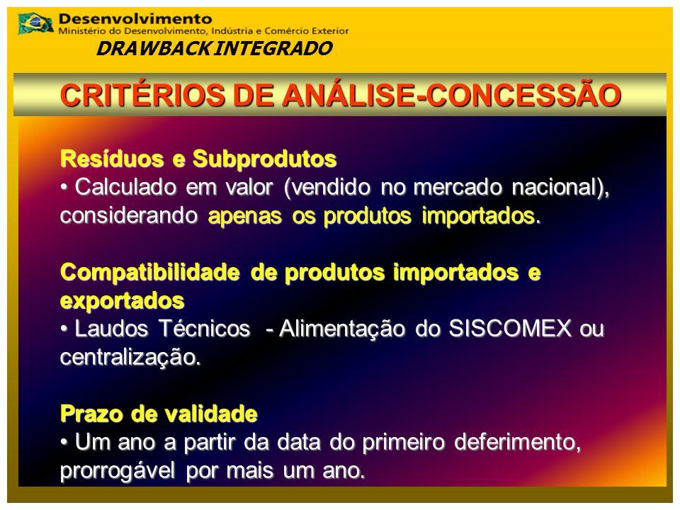 Resíduos e Subprodutos Calculado em valor (vendido no mercado nacional), considerando apenas os produtos importados.