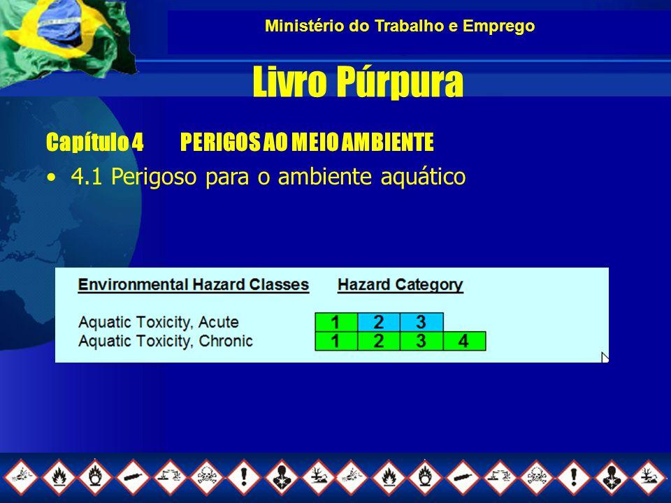 Ministério do Trabalho e Emprego Livro Púrpura Capítulo 4PERIGOS AO MEIO AMBIENTE 4.1 Perigoso para o ambiente aquático