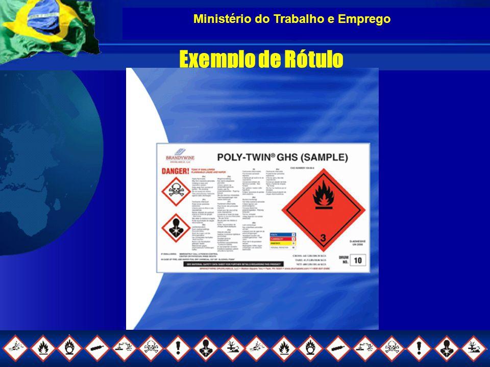 Ministério do Trabalho e Emprego Exemplo de Rótulo