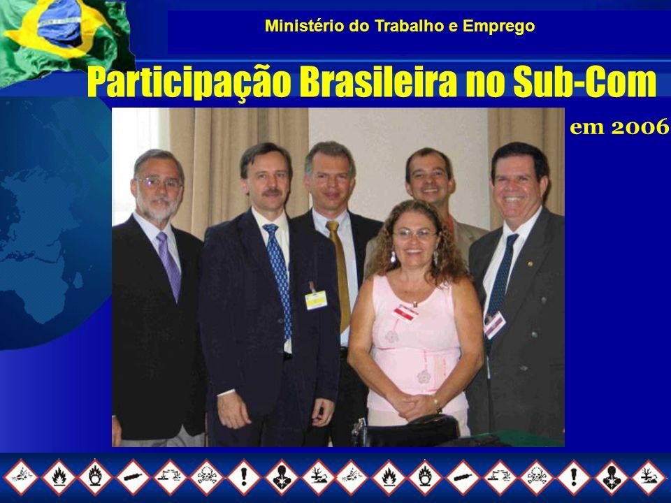 Ministério do Trabalho e Emprego Participação Brasileira no Sub-Com em 2006