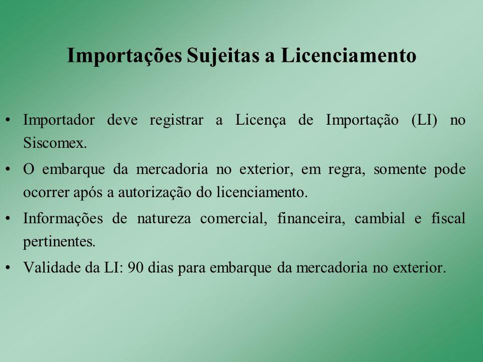 Importador deve registrar a Licença de Importação (LI) no Siscomex. O embarque da mercadoria no exterior, em regra, somente pode ocorrer após a autori
