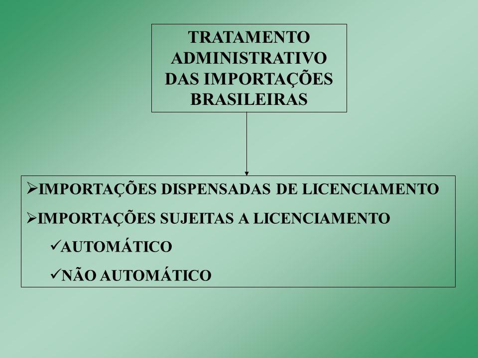 Importações amparadas em Acordos no âmbito da ALADI ou na Resolução GMC nº 69/00.