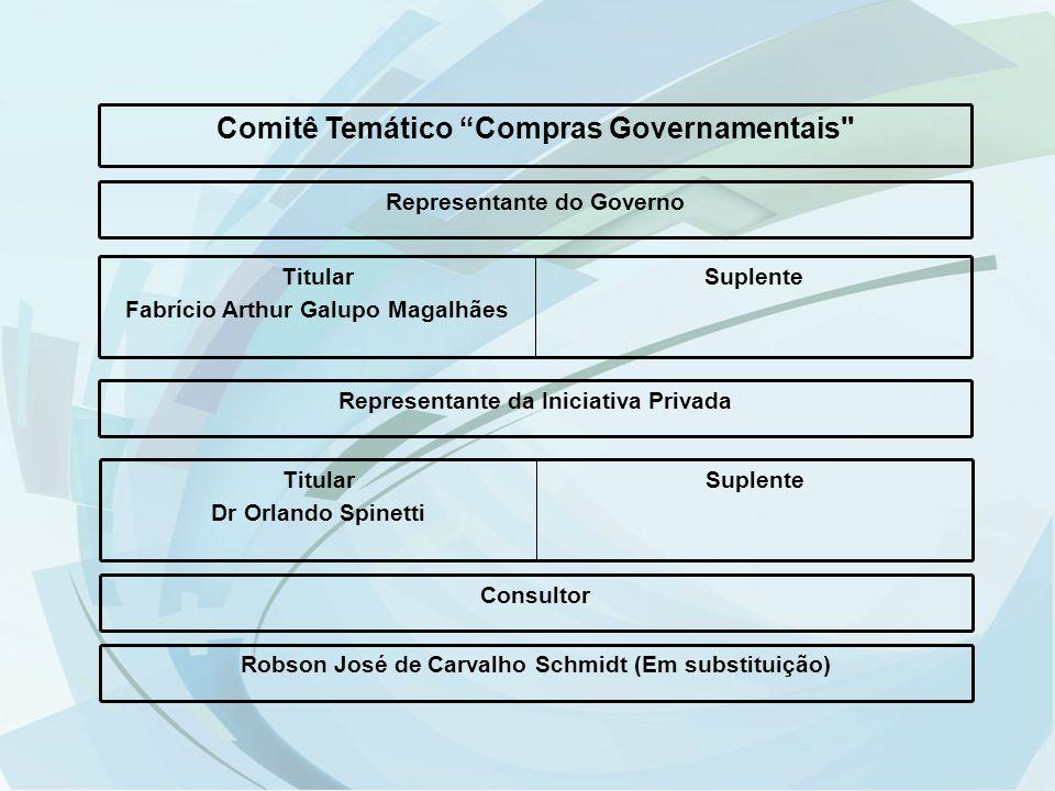 """Comitê Temático """"Compras Governamentais"""