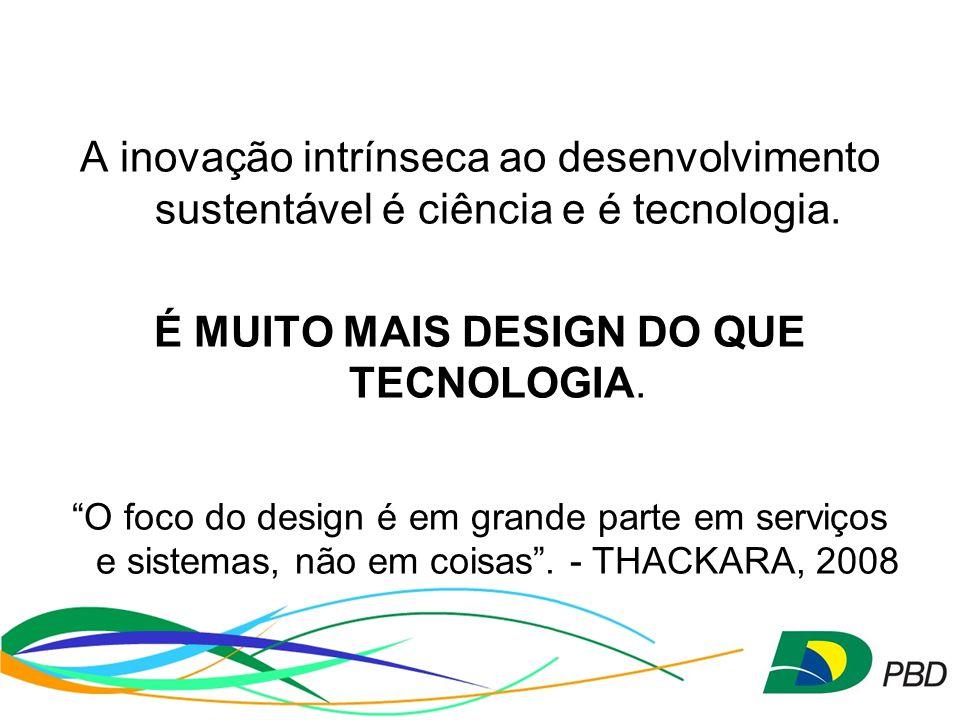 A inovação intrínseca ao desenvolvimento sustentável é ciência e é tecnologia.