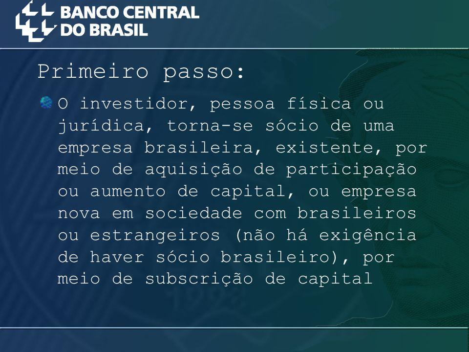 O investidor, pessoa física ou jurídica, torna-se sócio de uma empresa brasileira, existente, por meio de aquisição de participação ou aumento de capi