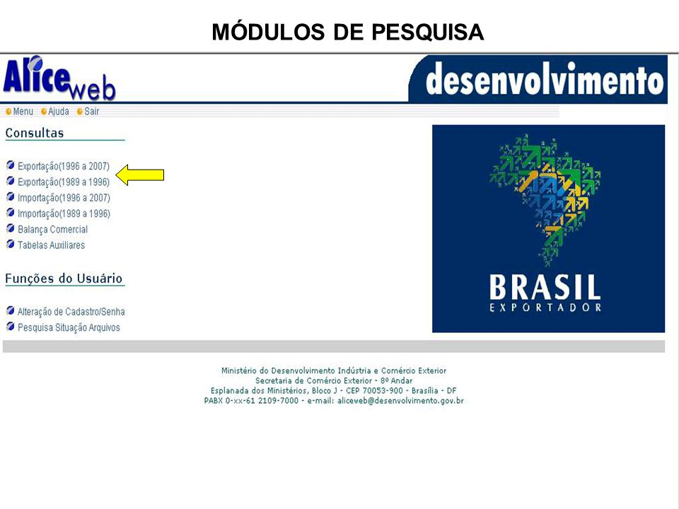 MÓDULOS DE PESQUISA
