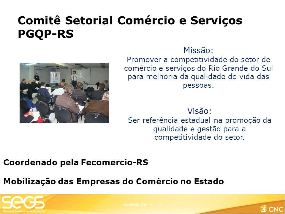 Comitê Setorial Comércio e Serviços PGQP-RS Slide No.