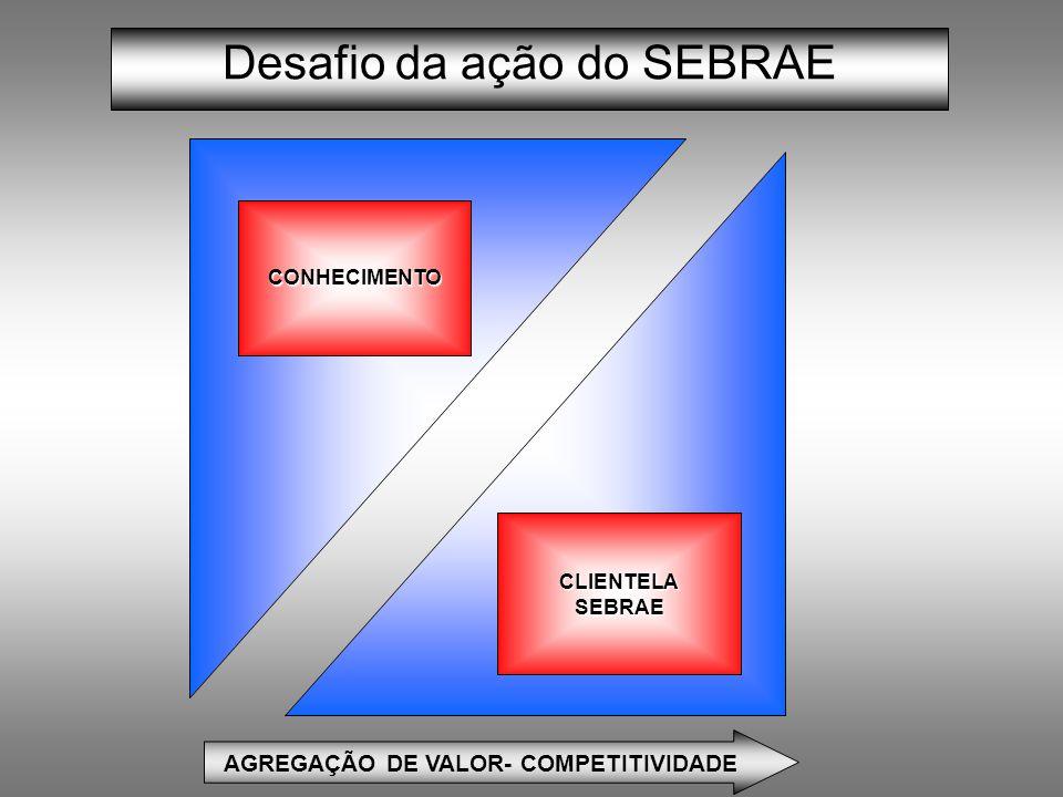 Desafio da ação do SEBRAE AGREGAÇÃO DE VALOR- COMPETITIVIDADE CLIENTELASEBRAE CONHECIMENTO
