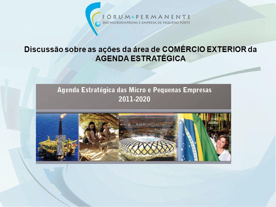 Discussão sobre as ações da área de COMÉRCIO EXTERIOR da AGENDA ESTRATÉGICA