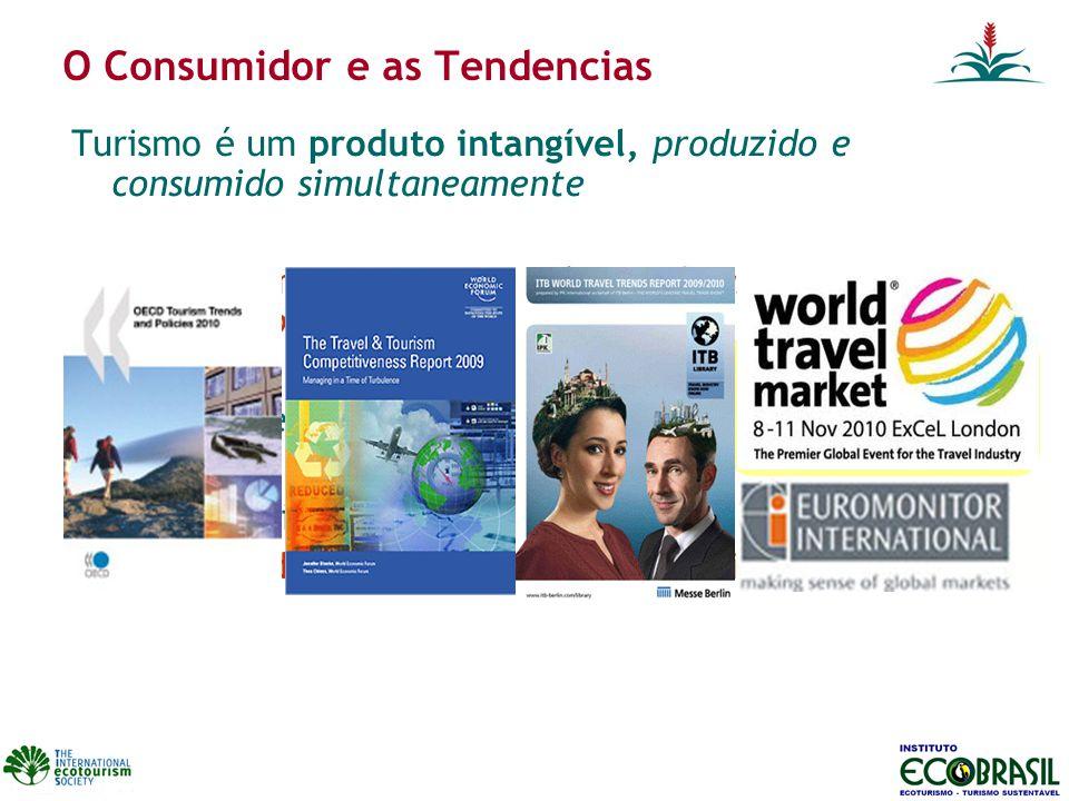 O Consumidor e as Tendencias Turismo é um produto intangível, produzido e consumido simultaneamente O turista compra uma experiência, boas historias p