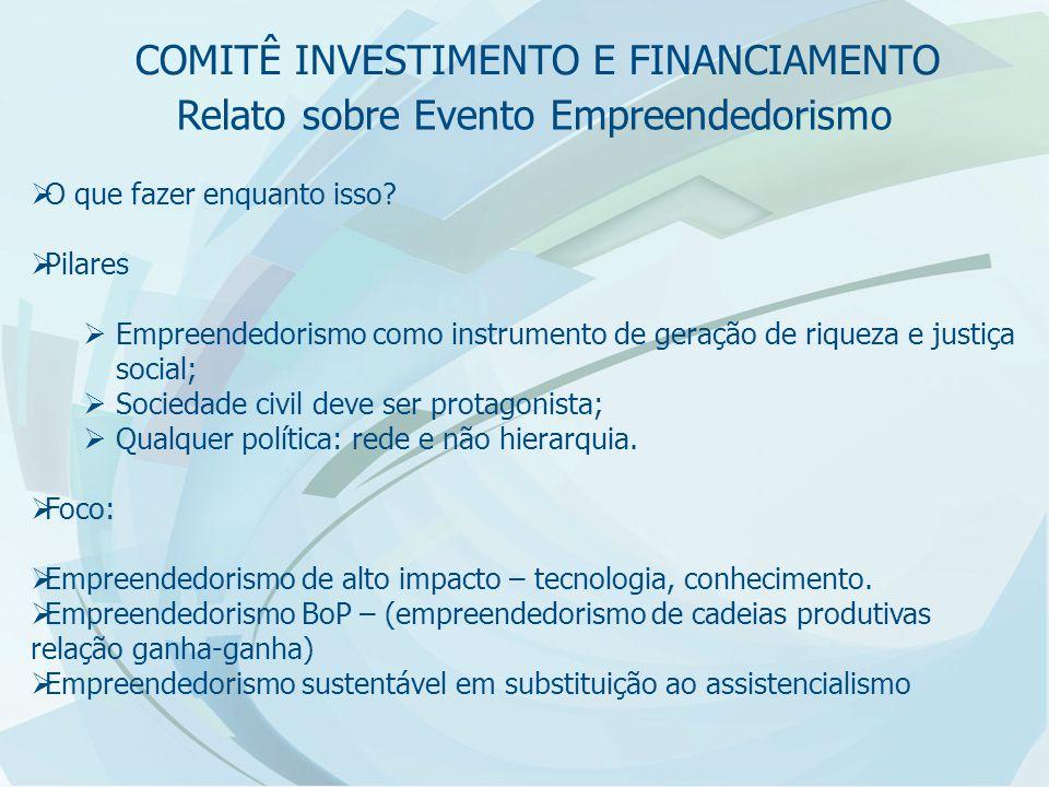 Relato sobre Evento Empreendedorismo  O que fazer.
