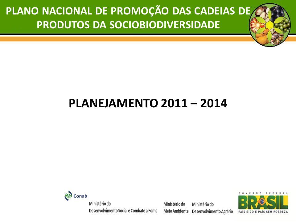 PLANEJAMENTO 2011 – 2014 PLANO NACIONAL DE PROMOÇÃO DAS CADEIAS DE PRODUTOS DA SOCIOBIODIVERSIDADE