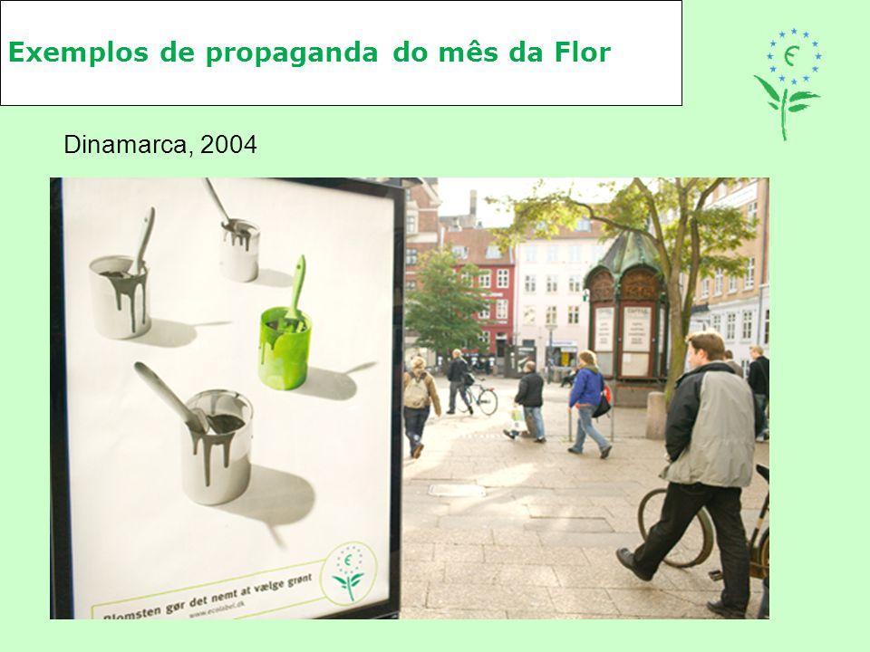 Exemplos de propaganda do mês da Flor Dinamarca, 2004