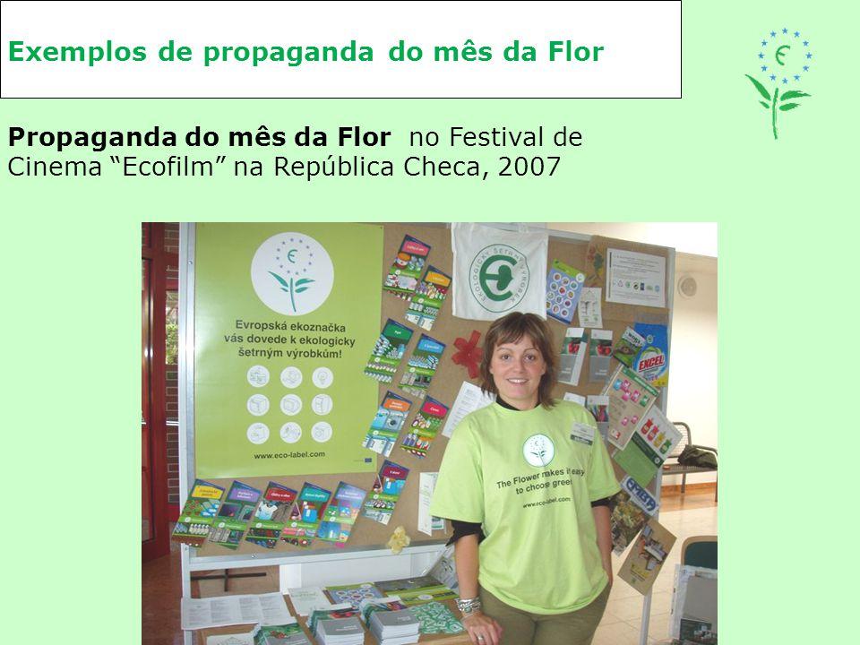 """Exemplos de propaganda do mês da Flor Propaganda do mês da Flor no Festival de Cinema """"Ecofilm"""" na República Checa, 2007"""
