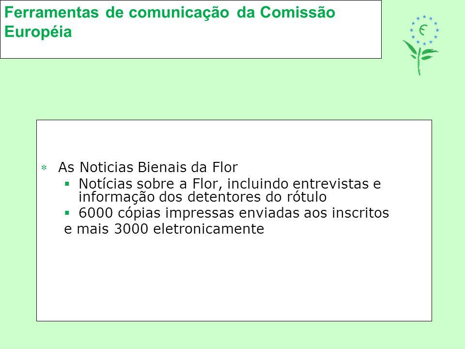 Ferramentas de comunicação da Comissão Européia As Noticias Bienais da Flor  Notícias sobre a Flor, incluindo entrevistas e informação dos detentore