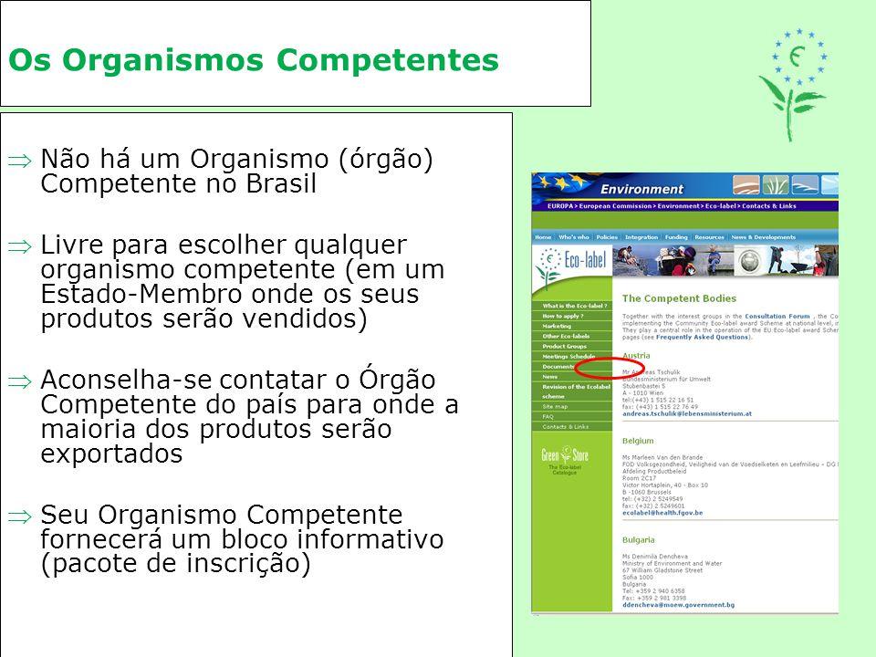 Os Organismos Competentes Não há um Organismo (órgão) Competente no Brasil Livre para escolher qualquer organismo competente (em um Estado-Membro on