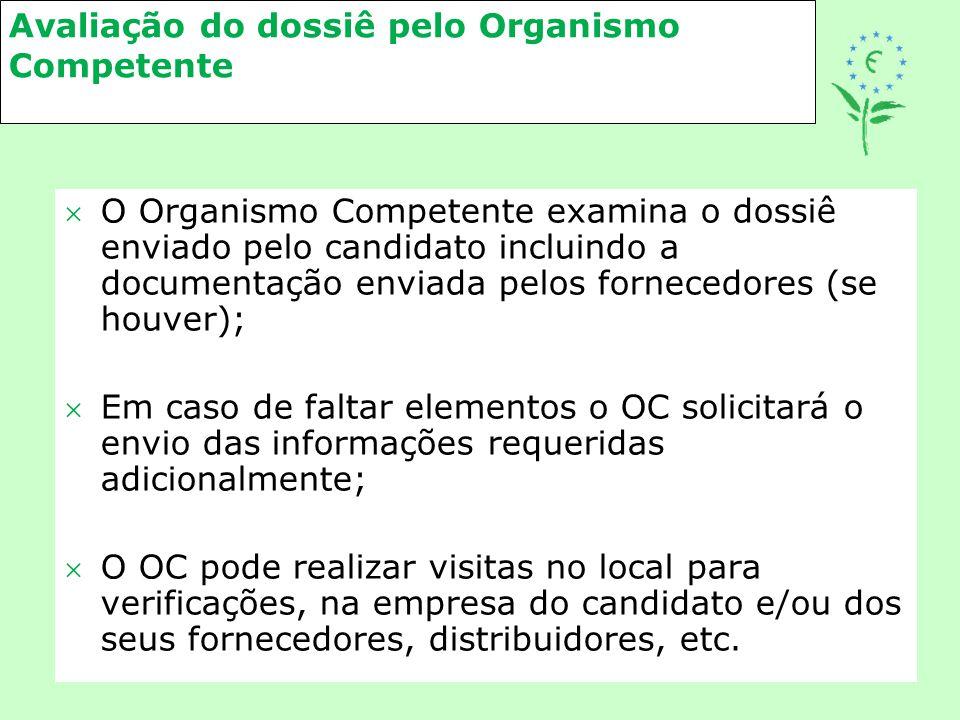 Avaliação do dossiê pelo Organismo Competente O Organismo Competente examina o dossiê enviado pelo candidato incluindo a documentação enviada pelos f